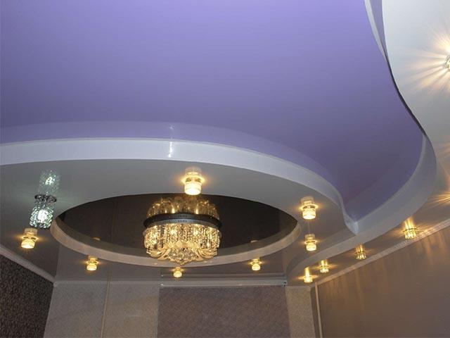 Двухуровневые натяжные потолки в Гомеле