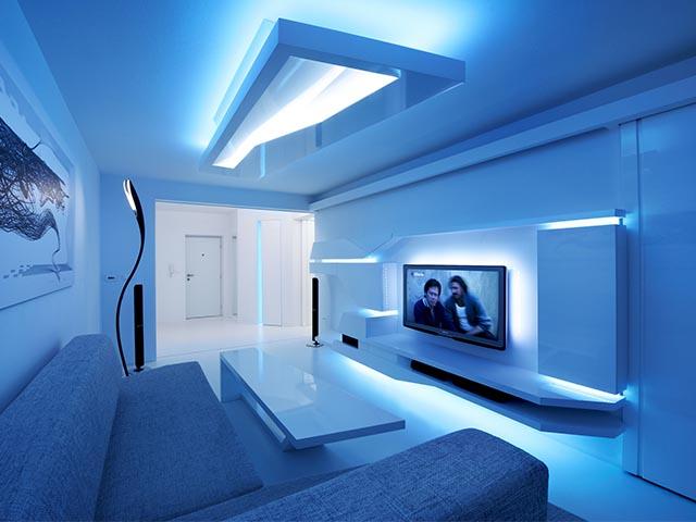 Установка светодиодных лент и светильников